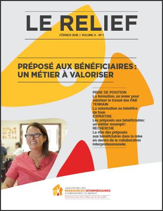 Le Relief vol 4 no 1 : Préposés aux bénéficaires, un métier à valoriser